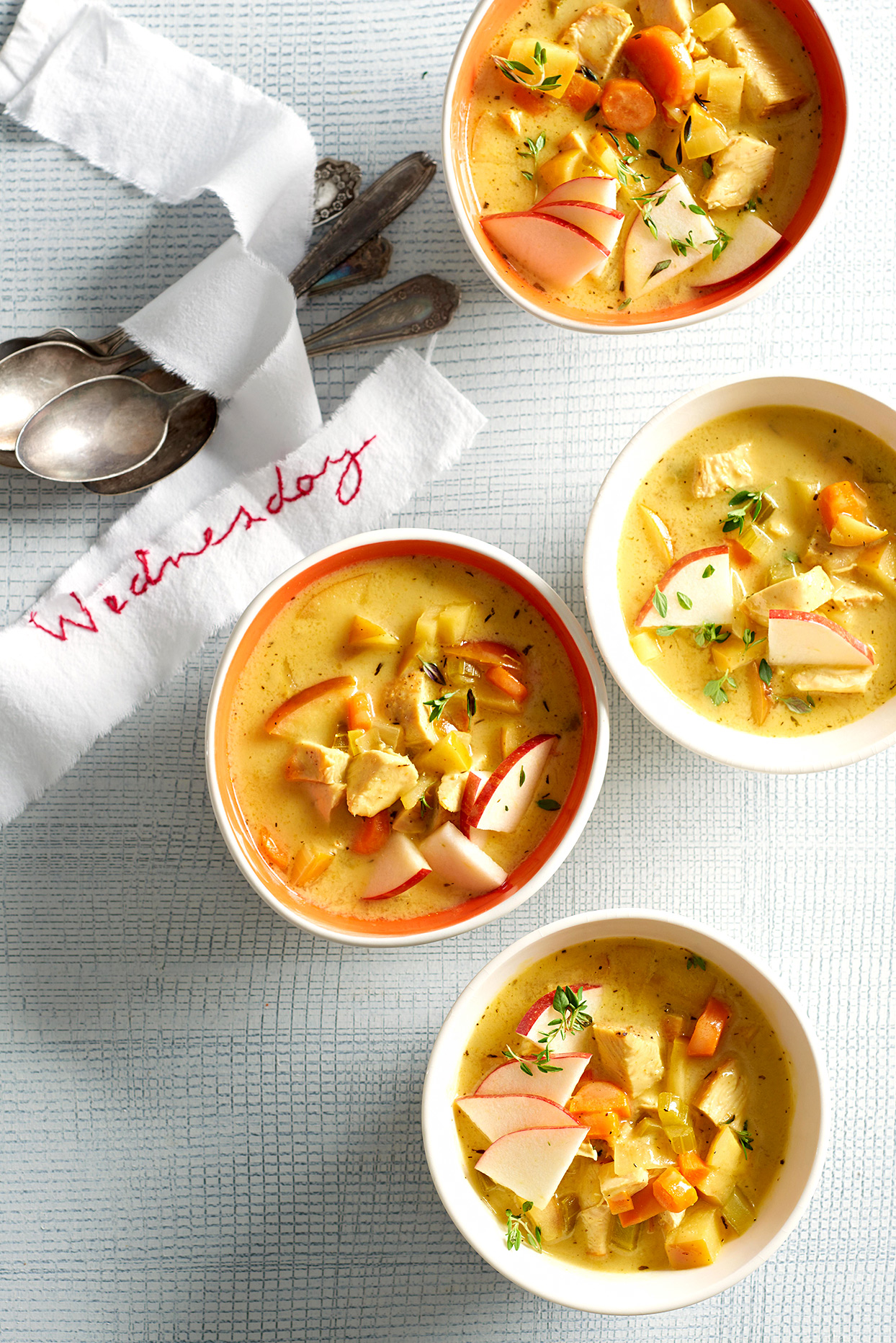 Chicken-and-Apple Curry Soup