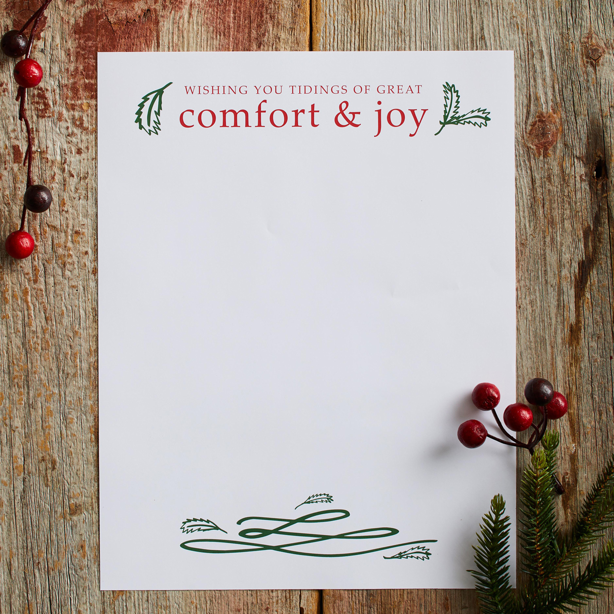 Comfort and Joy Letter