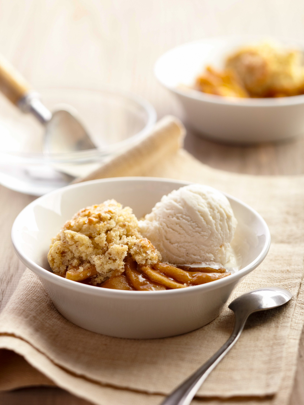 Granny Smith Cobbler with White Cheddar Biscuits