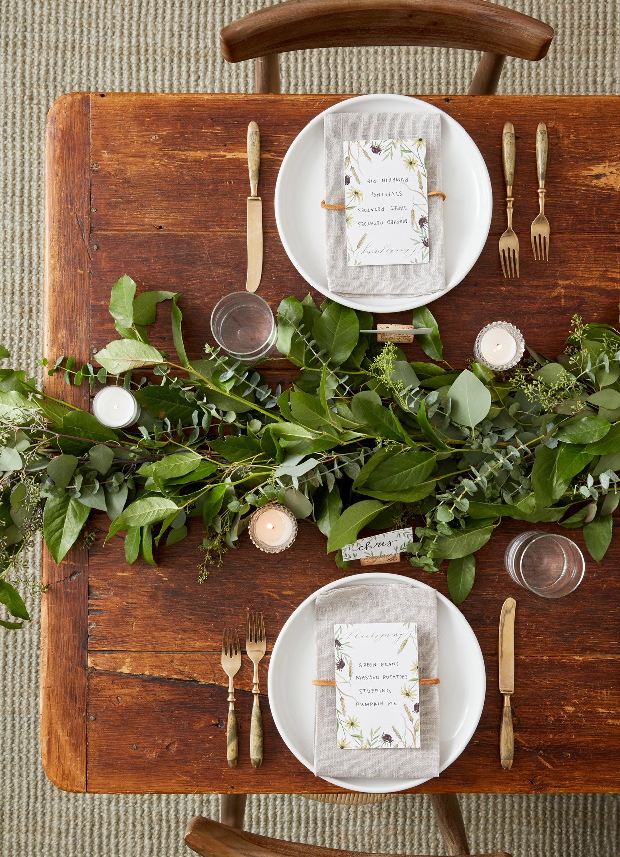 Tabletop Greenery Garland