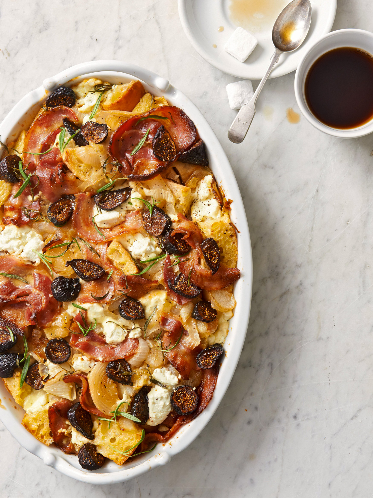 Fig, Pancetta, and Goat Cheese Brunch Casserole