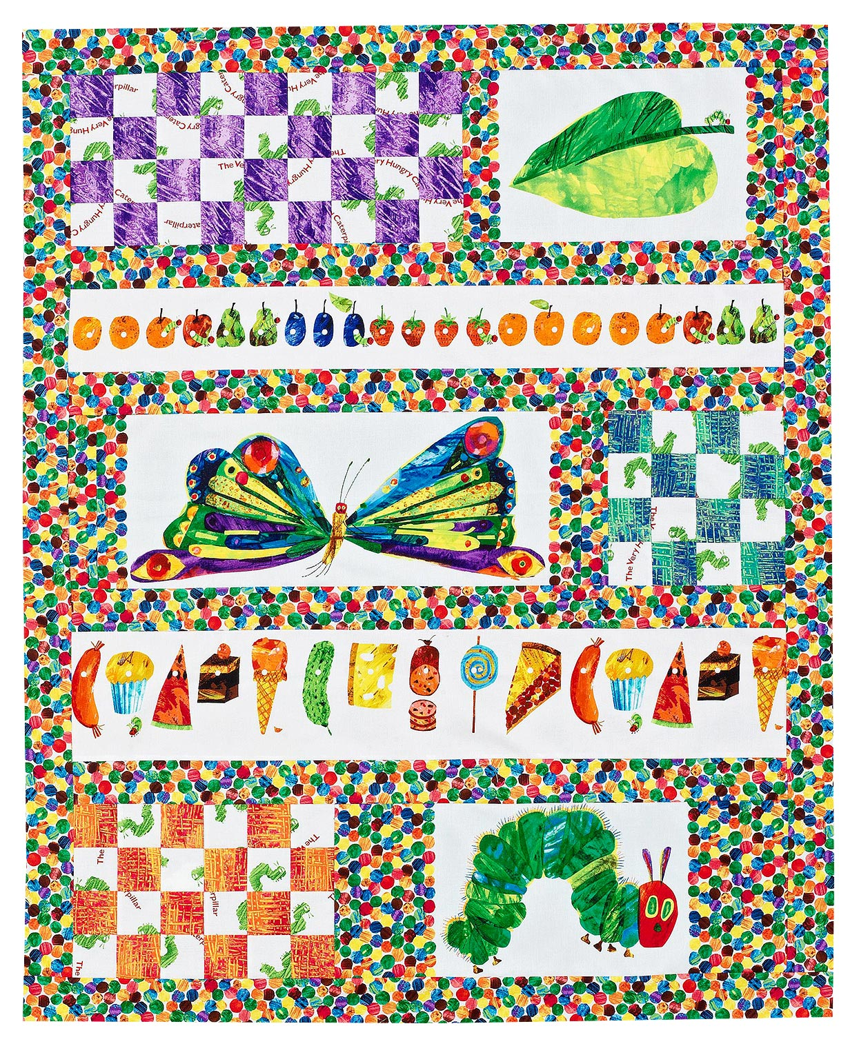 The Very Hungry Caterpillar-inspired children's quilt