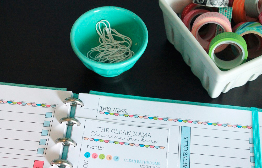 Get in a Cleaning Routine Checklist