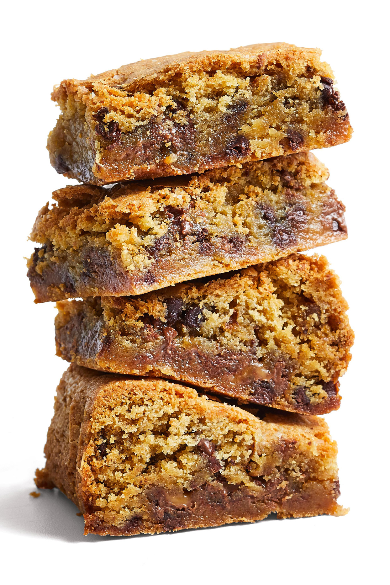 stack of Salted Caramel Chocolate Chip Bars