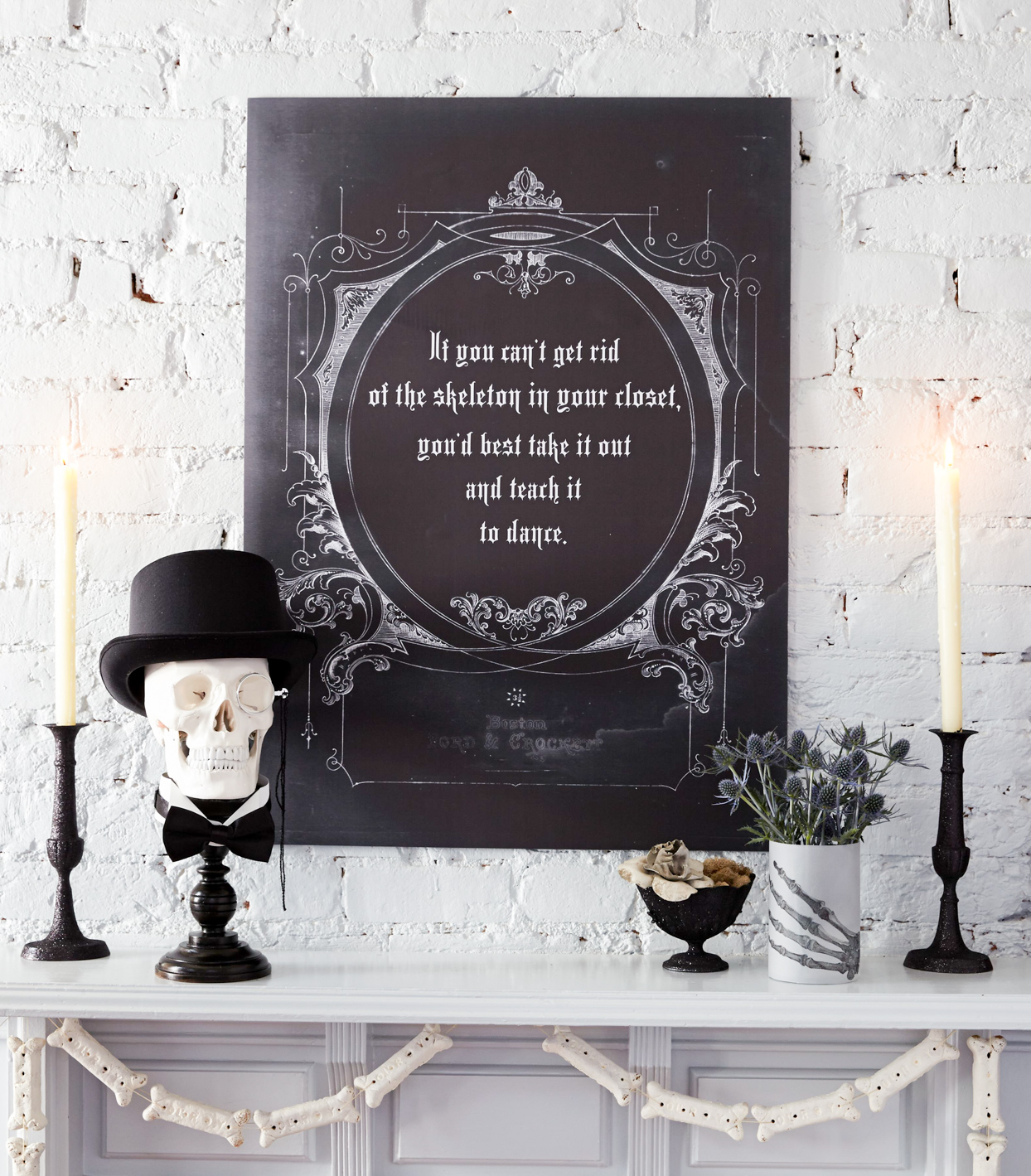 Black-and-White Mantel