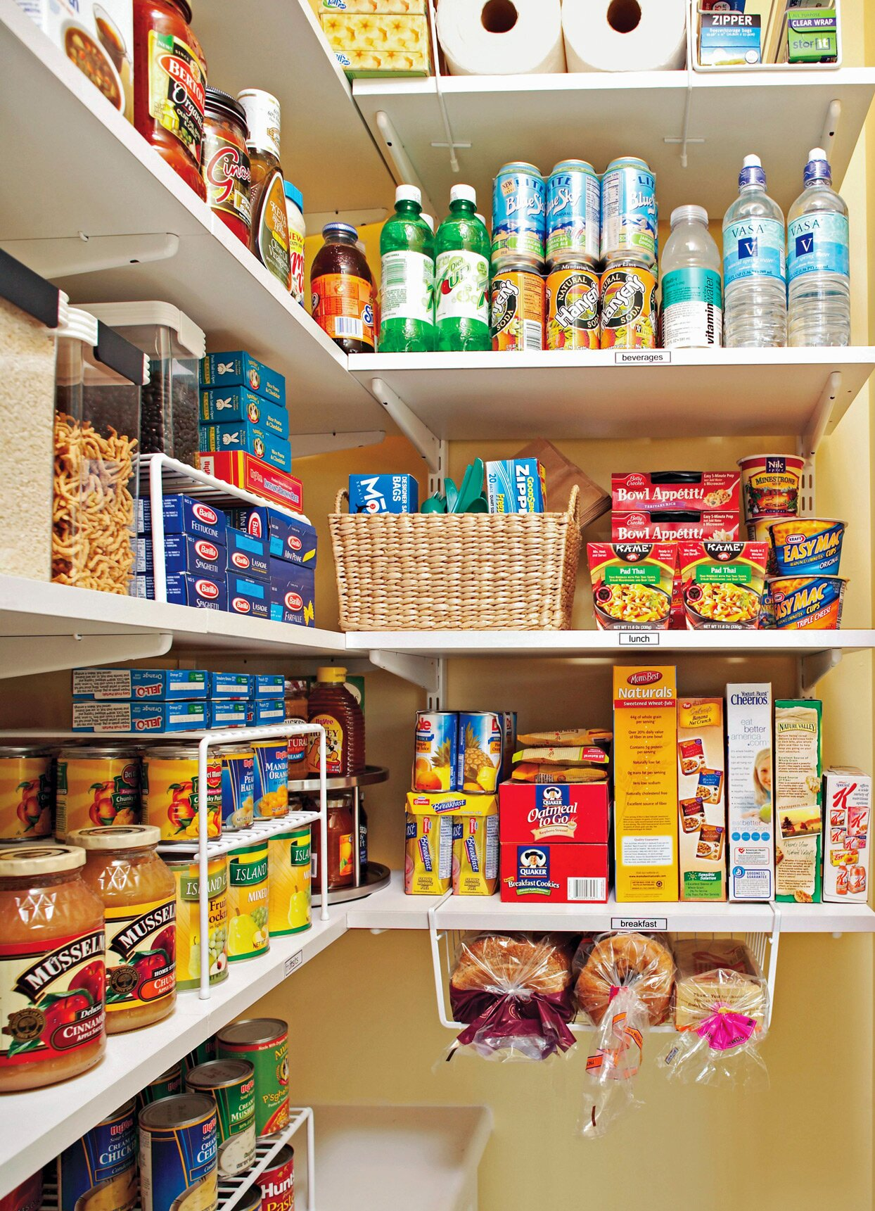 How To Organize Your Pantry By Zones For Simple Effective Food Storage Better Homes Gardens