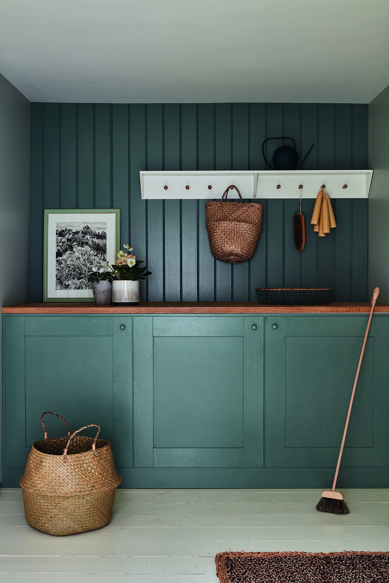 dark green entryway