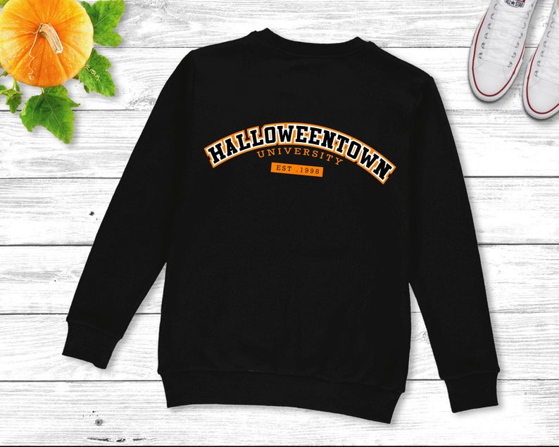 black sweatshirt halloweentown university