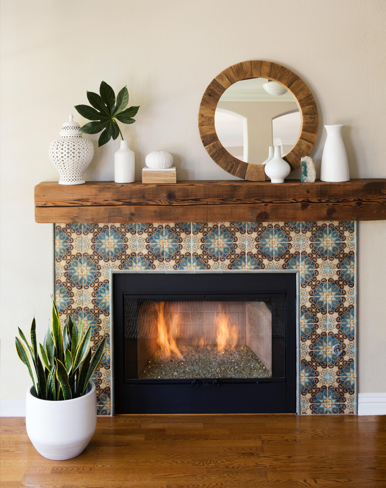 After: Glowing Fireplace Design