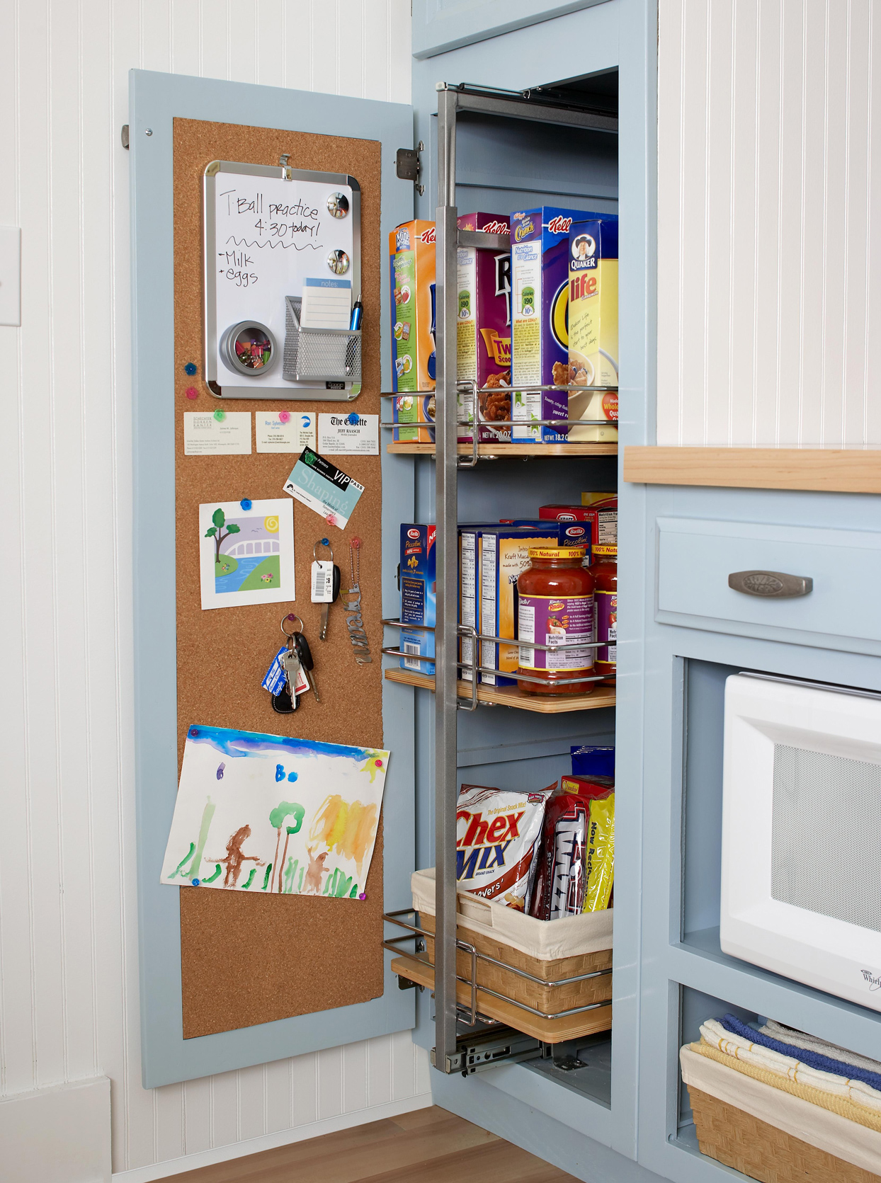 retrofitted pullout pantry storage