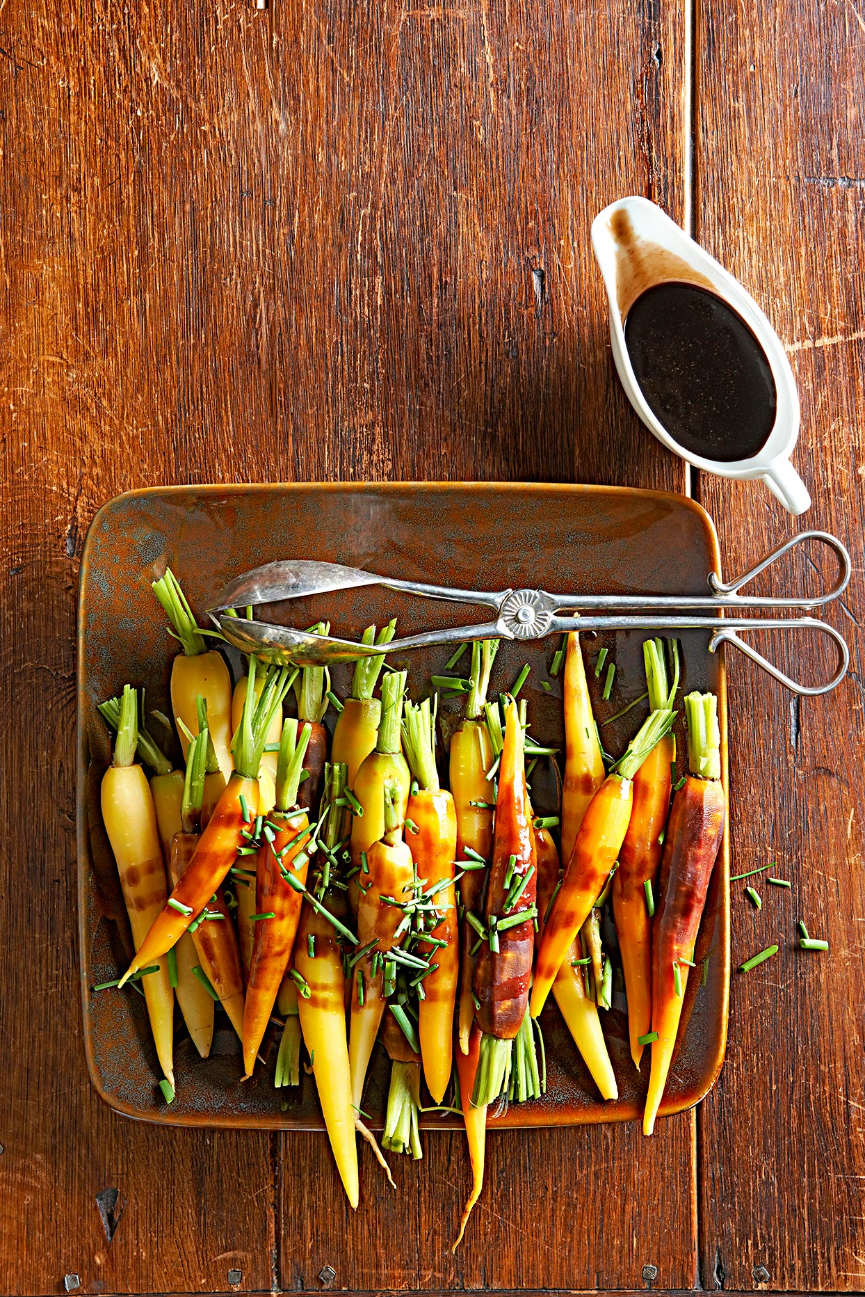Orange- and Balsamic-Glazed Tricolor Carrots