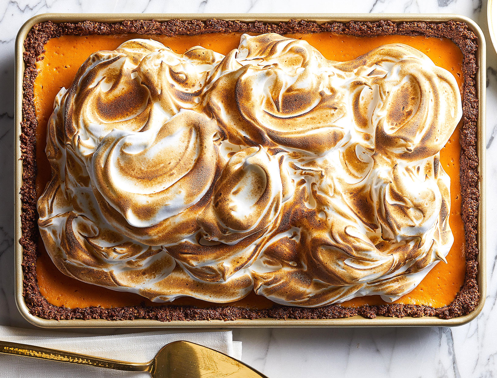 Sweet Potato Marshmallow Meringue Pie