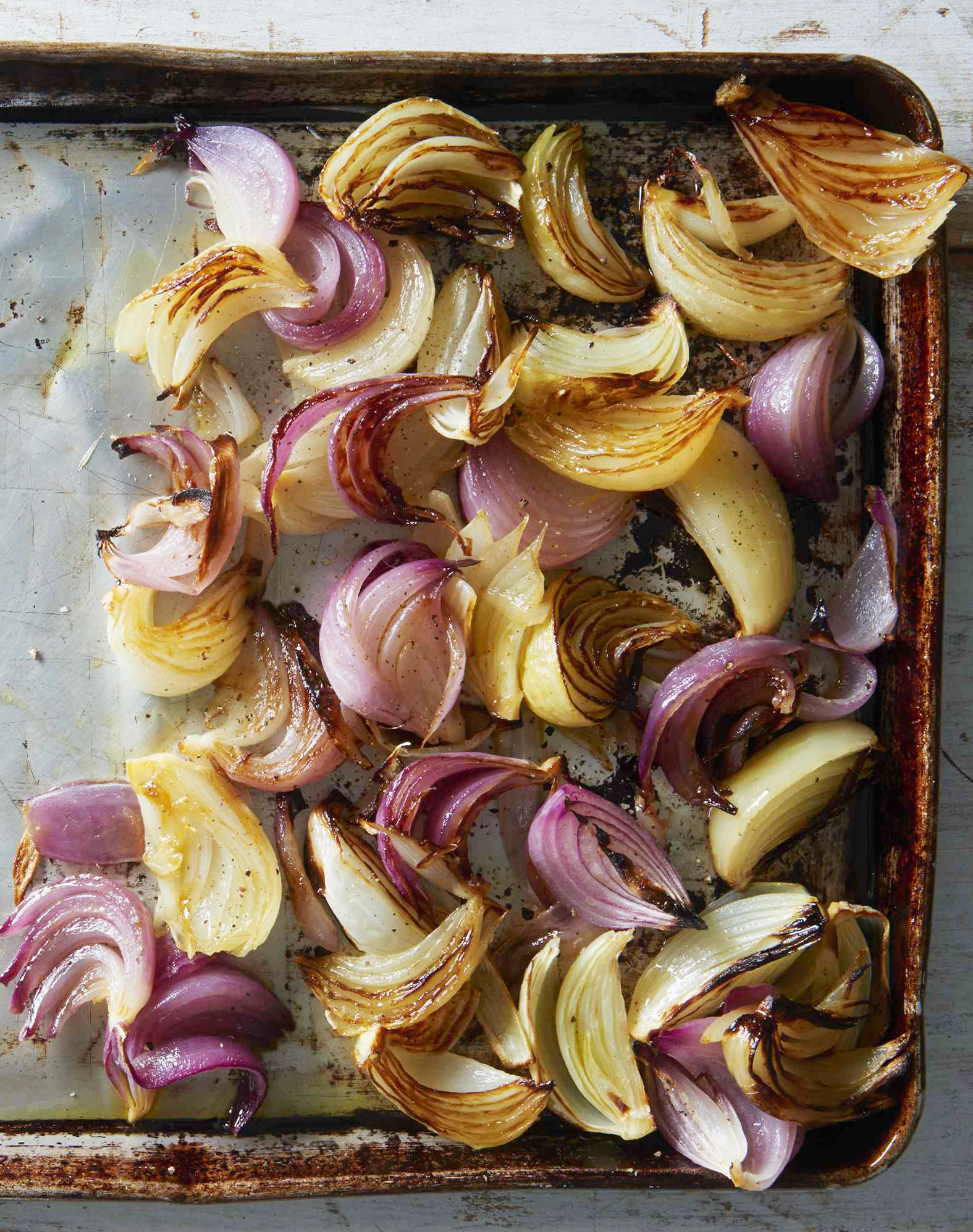 pan of roasted onions