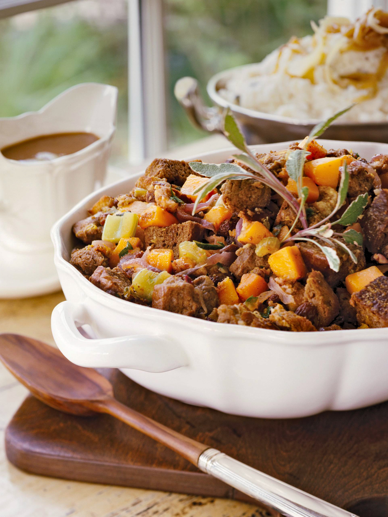 Winter Squash and Brown Bread Stuffing