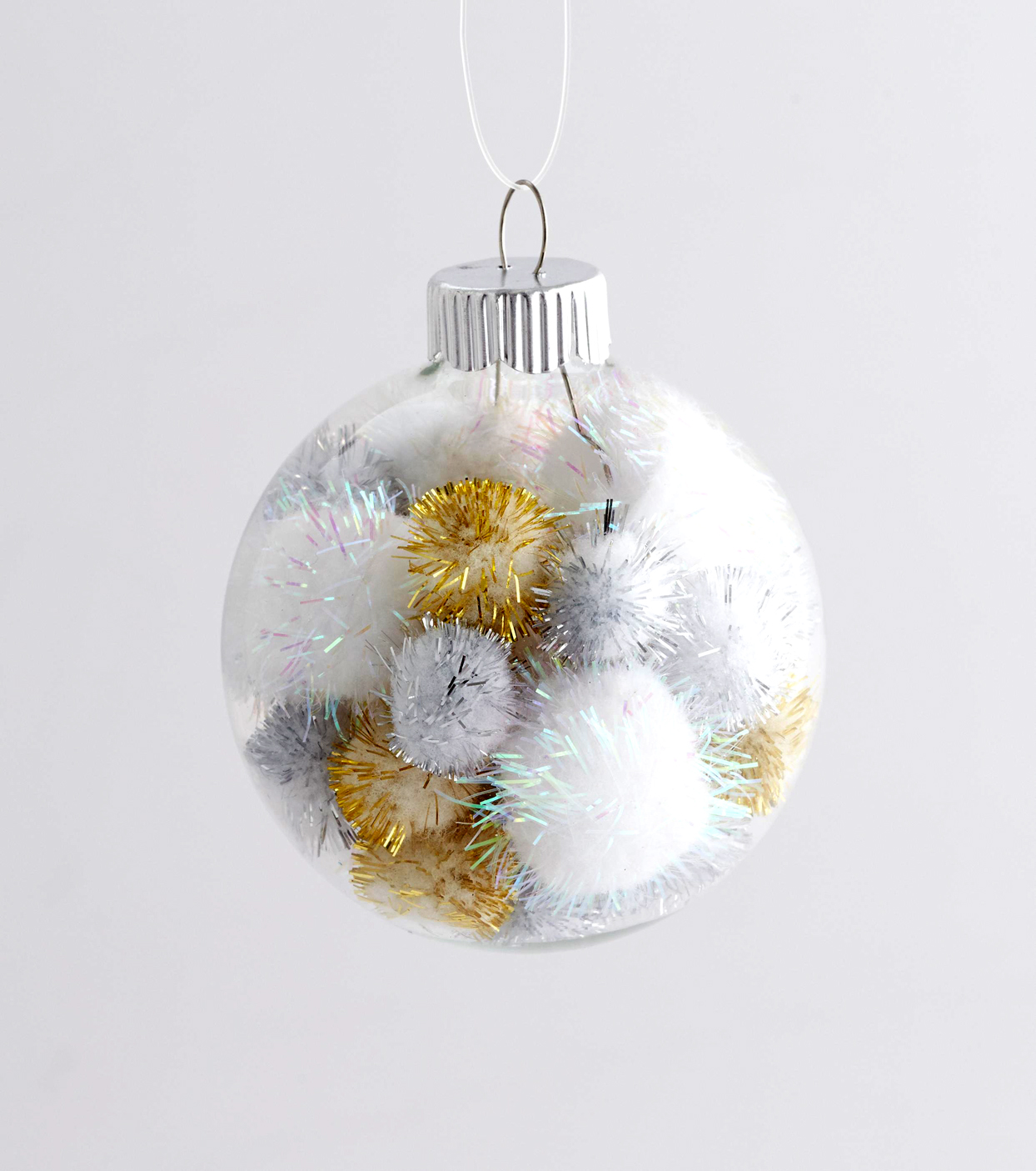 Set of 6 Shimmer snowflakes Christmas ornaments Gold tree decoration silver hanging ornaments window embellishment