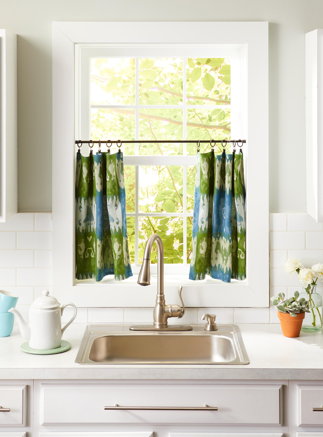 kitchen window classic cafe curtains