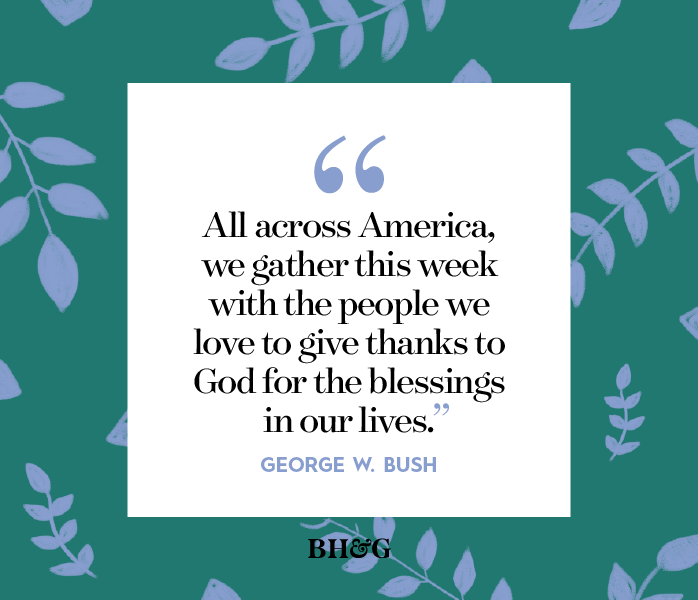 thanksgiving quote on a green and blue floral background