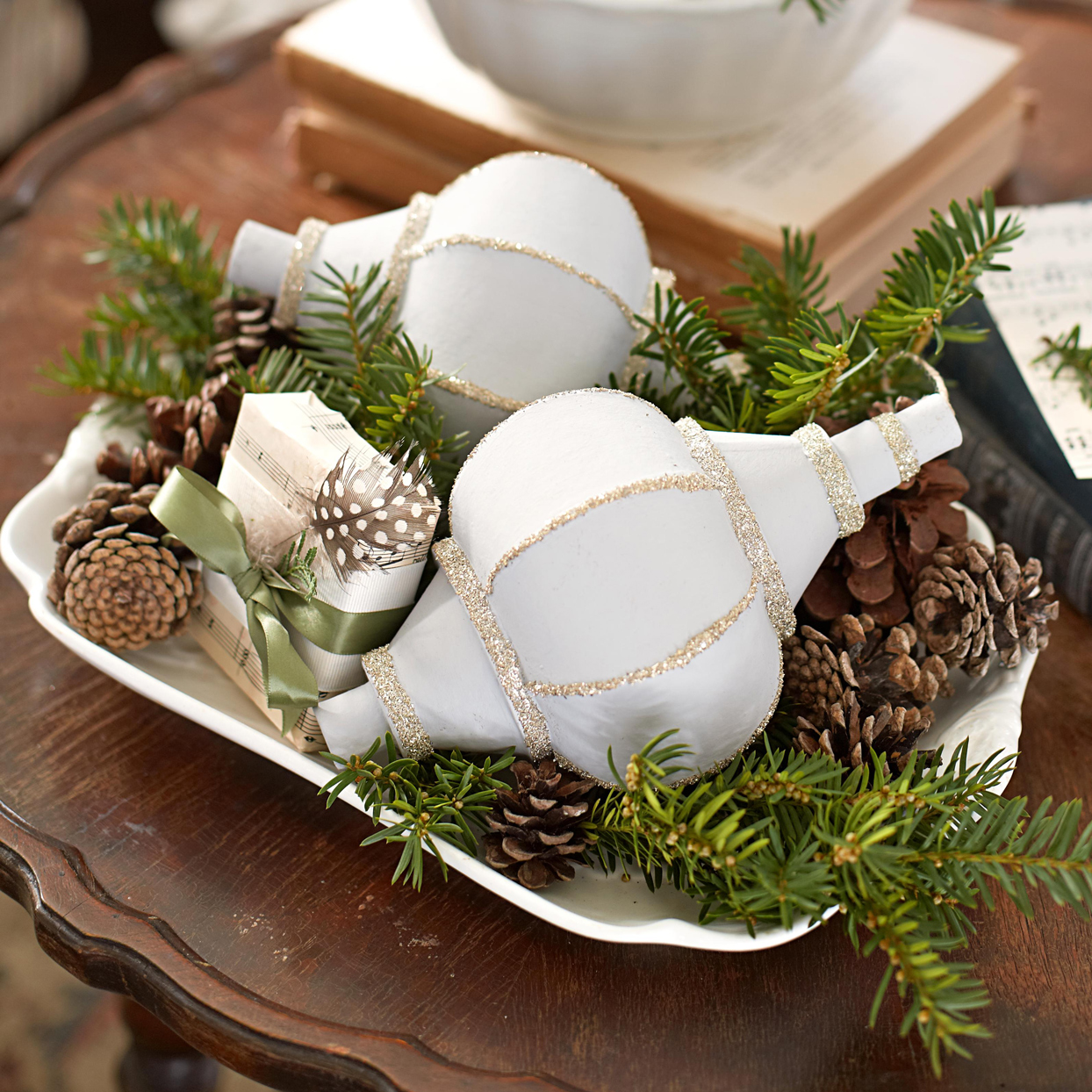 painted ornaments holiday decor