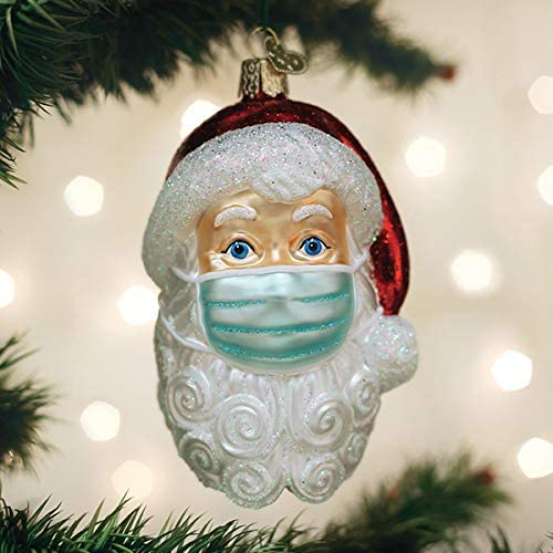 santa face mask ornament