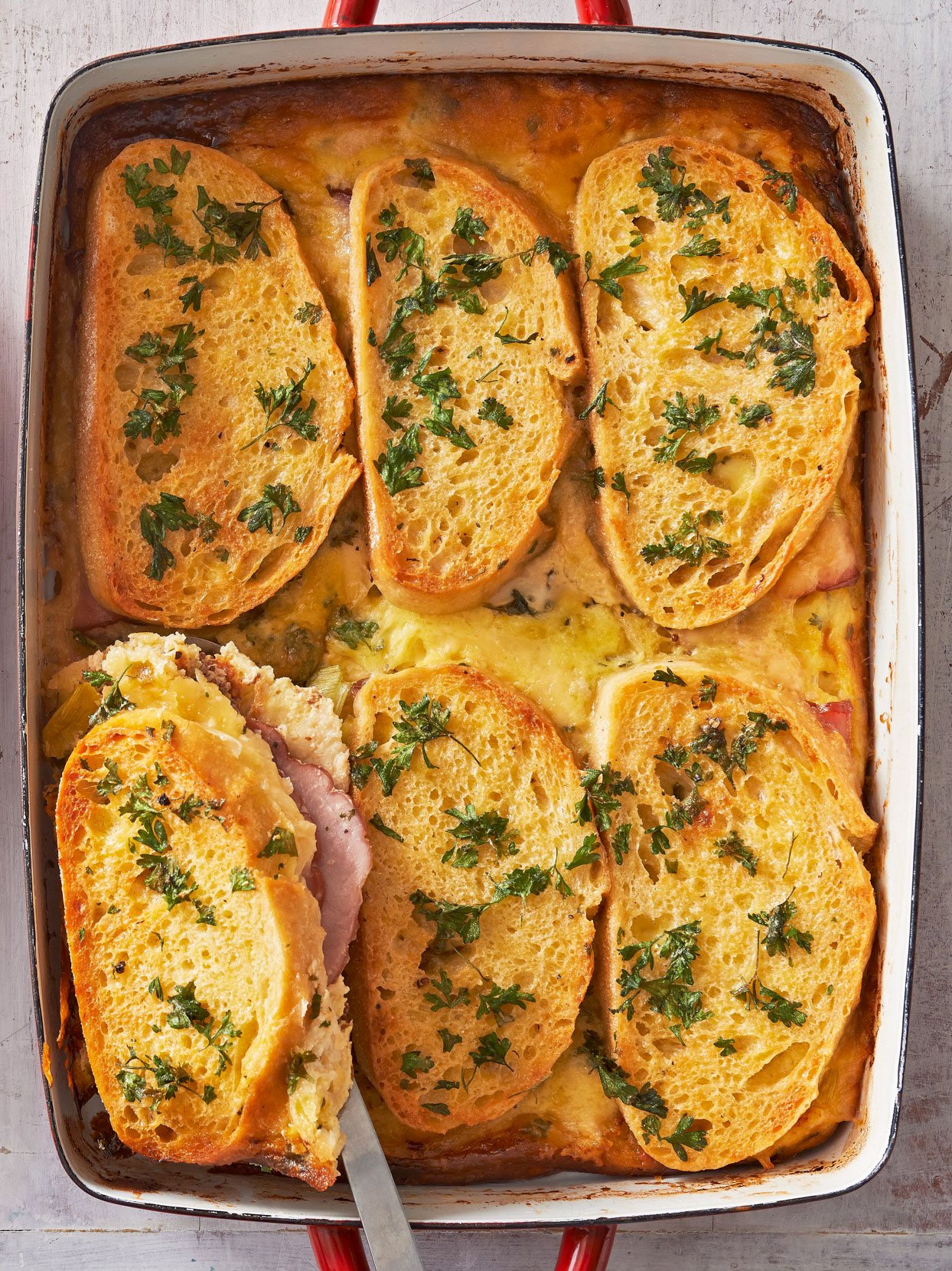 Ham and Cheese Brunch Casserole