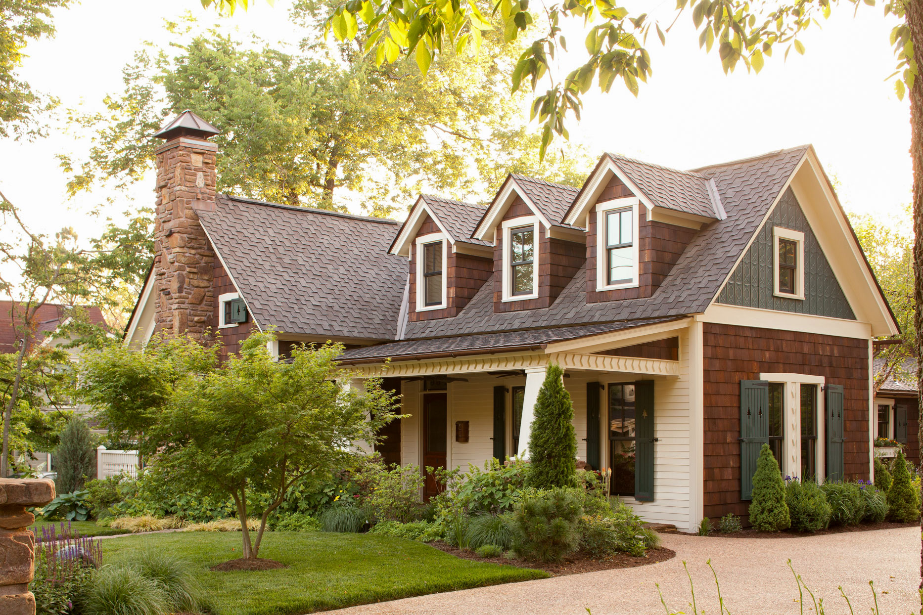 home exterior with gables