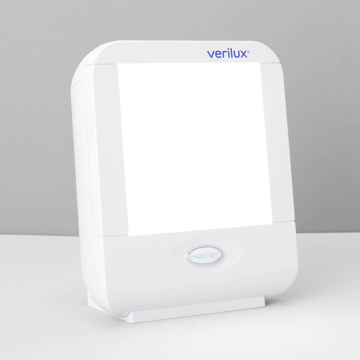 square light therapy lamp with white frame
