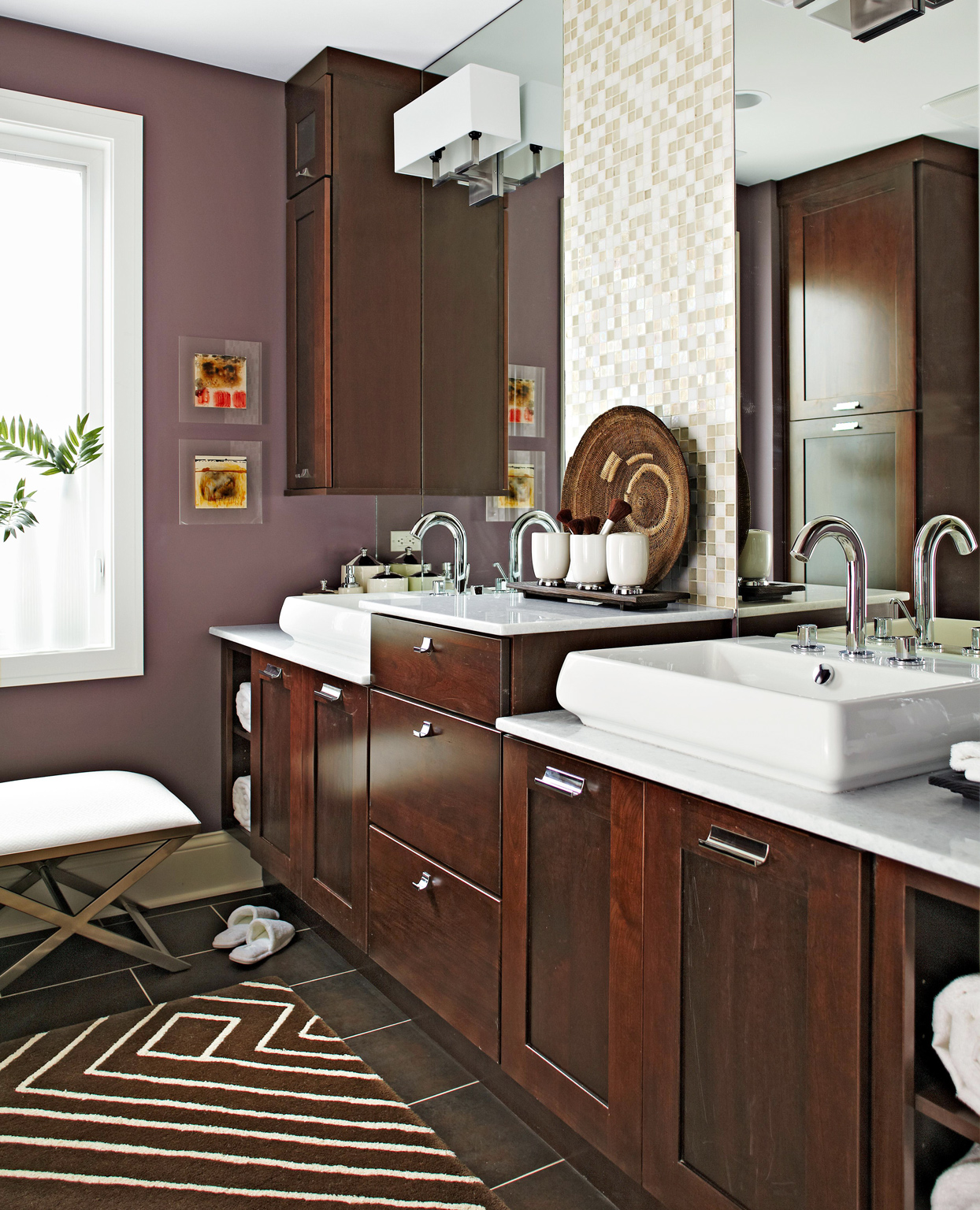 brown and purple color combo