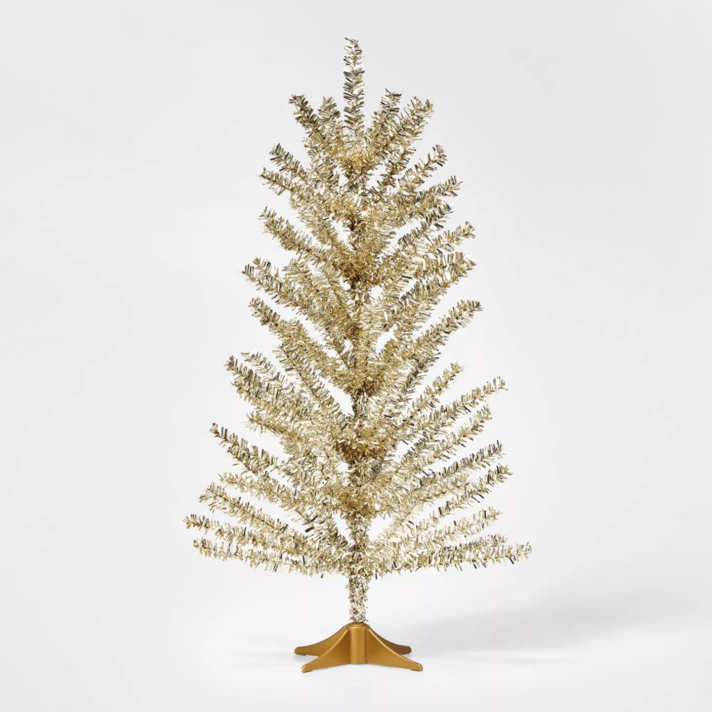 small gold christams tree