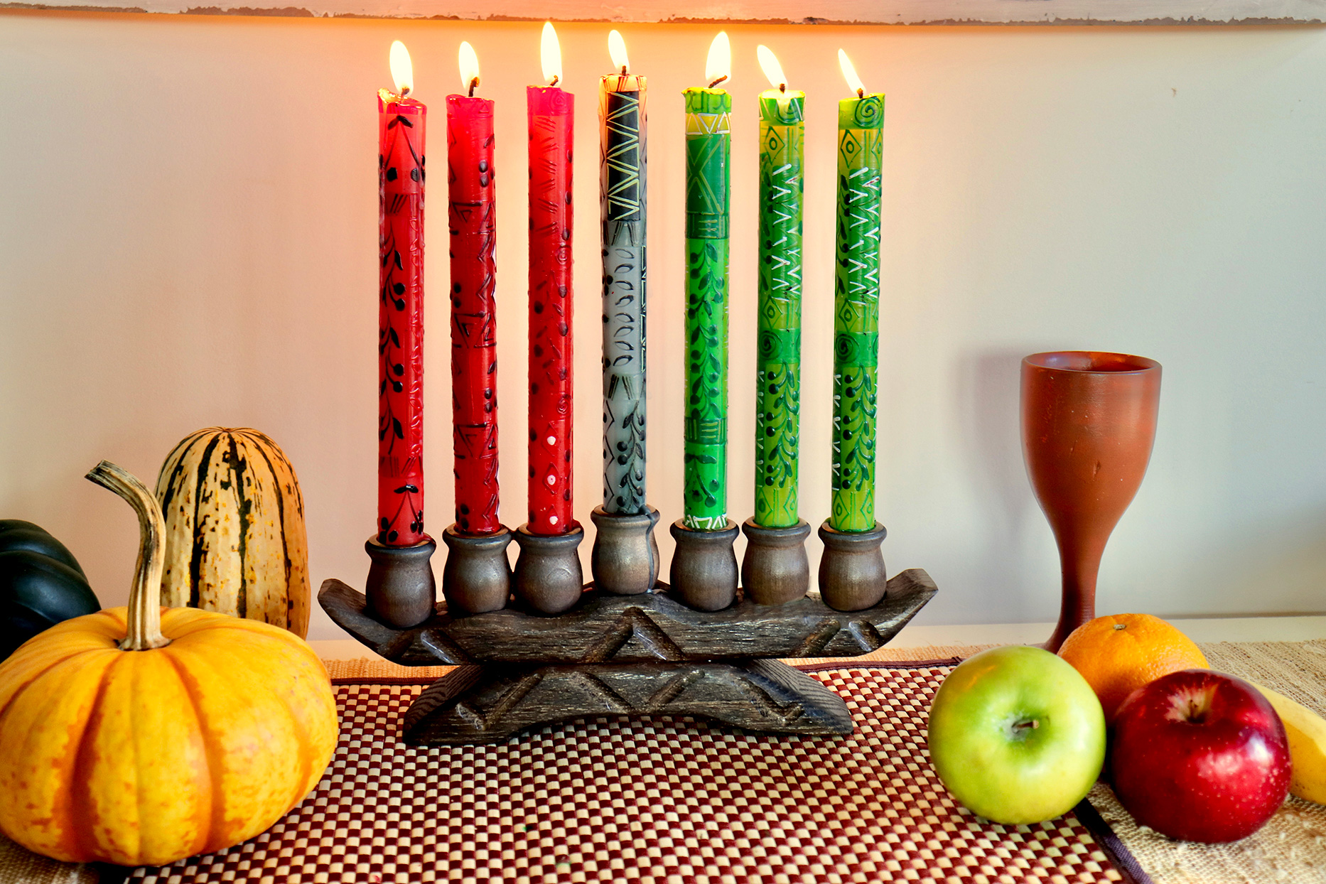 kwanzaa tablescape