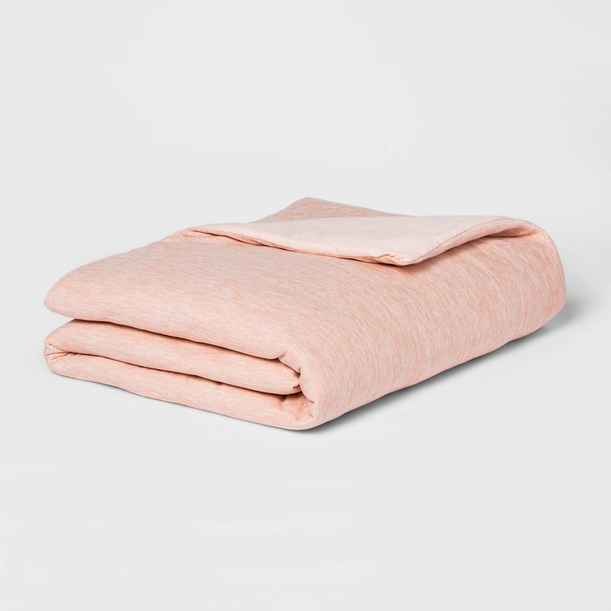 light pink folded weighted blanket