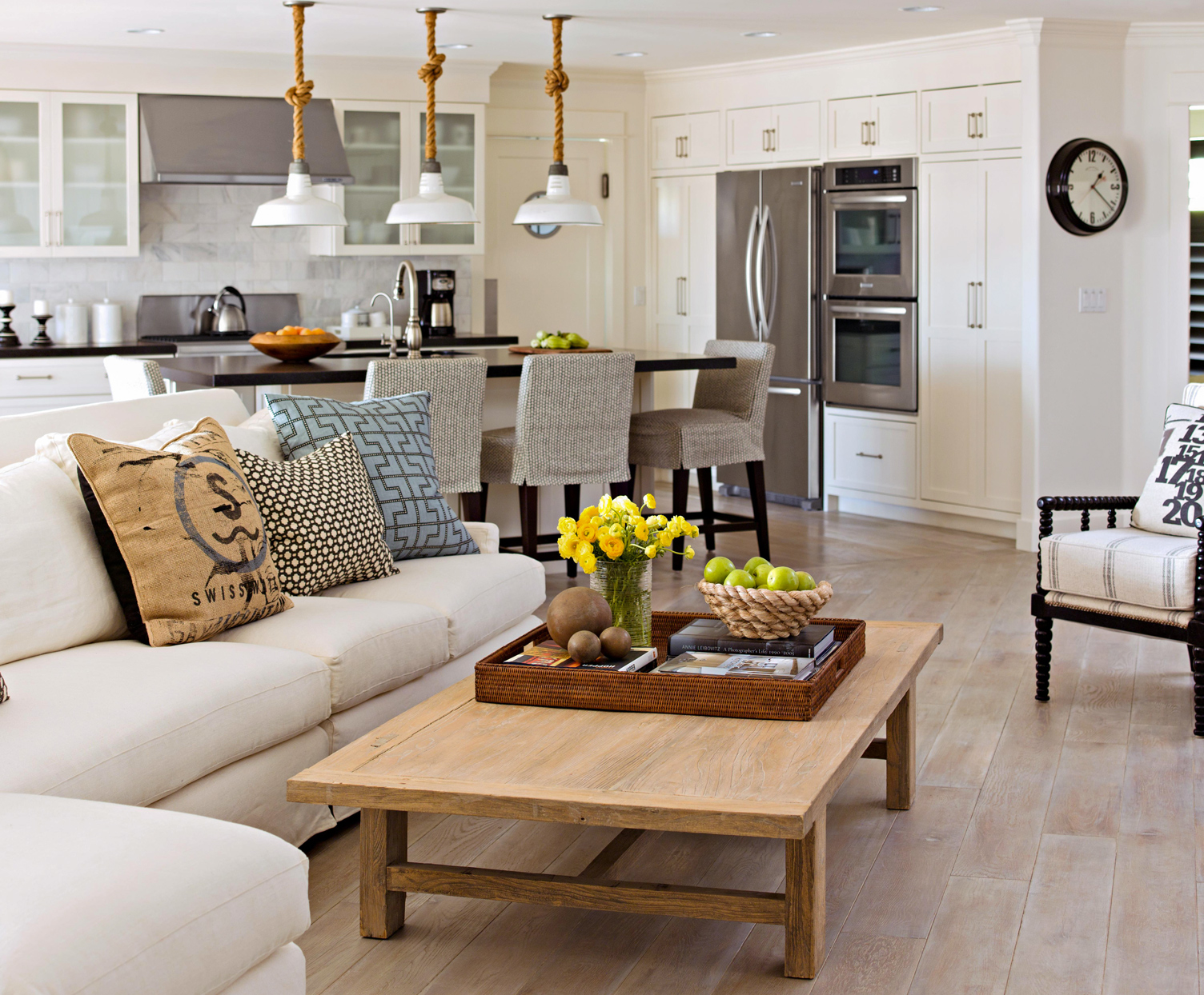 diagnal spaced furniture great room