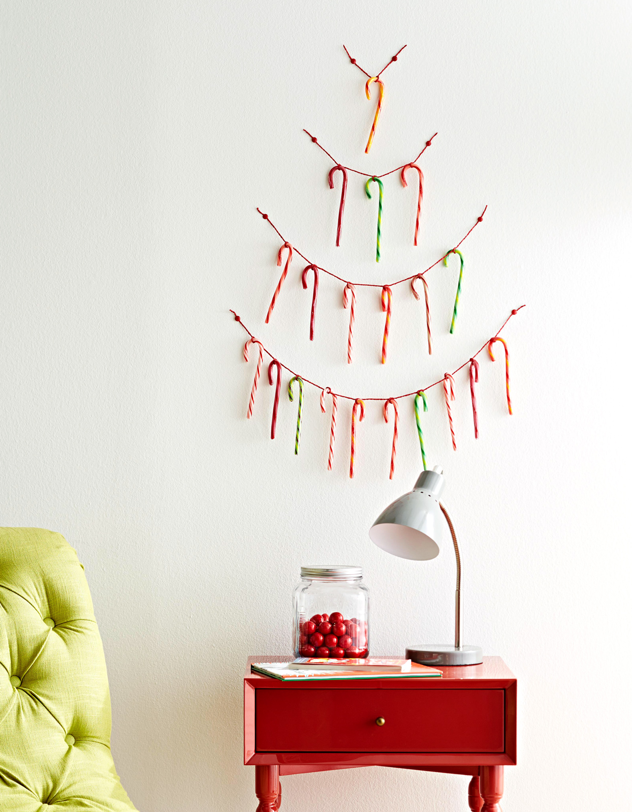 Candy Cane String Tree