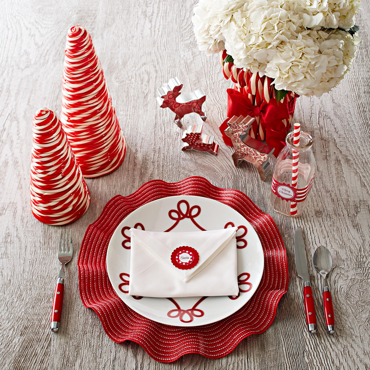 Santa Letter Red Place Setting