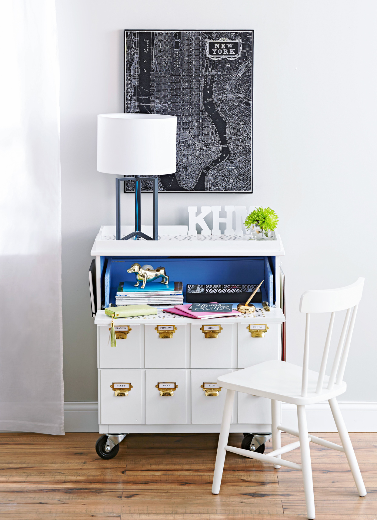 diy white dresser desk