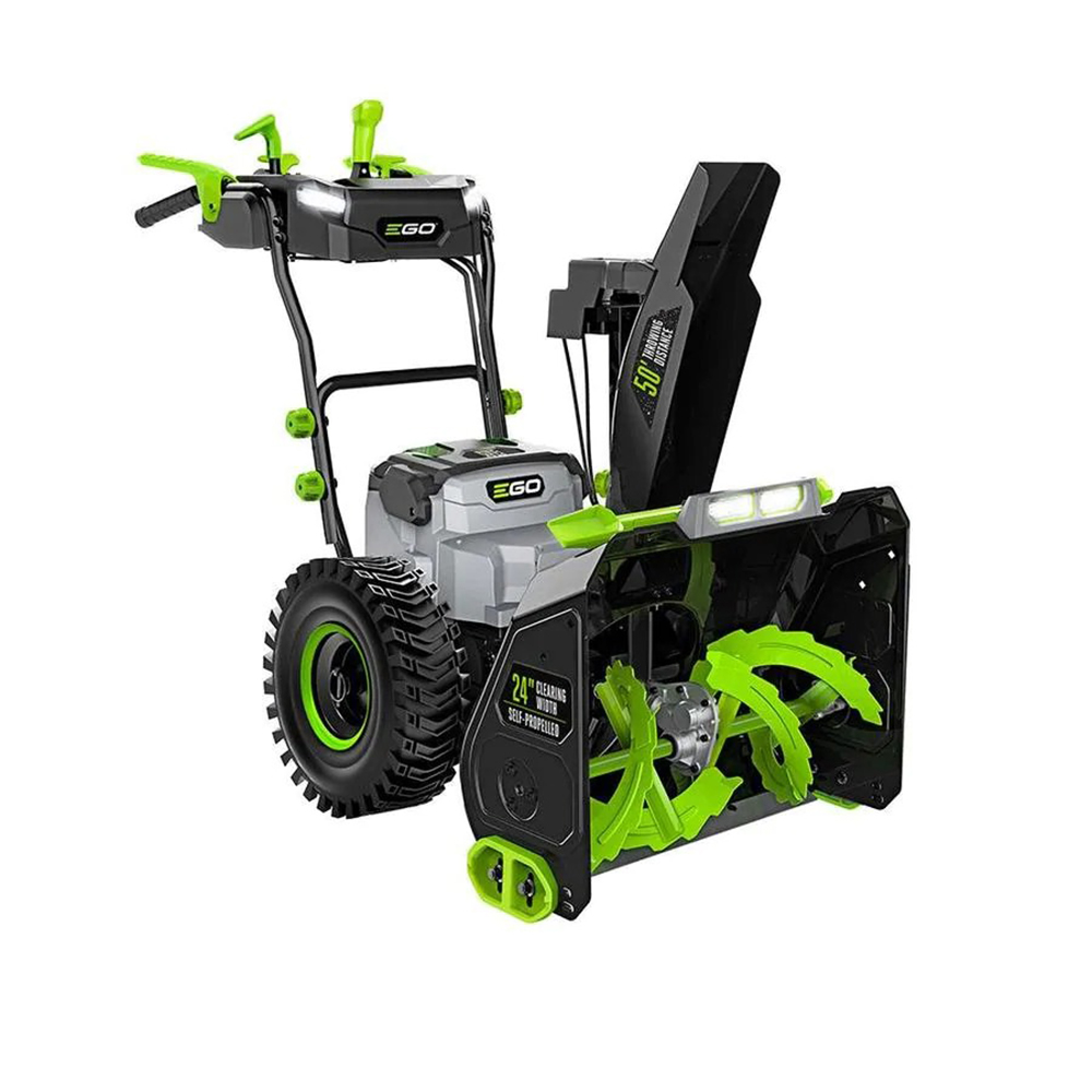 green and black snowblower