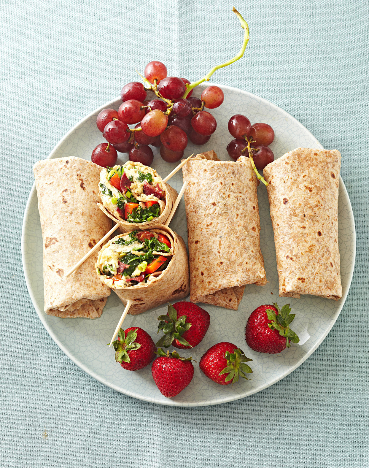 Greens Bacon Omelet Wraps