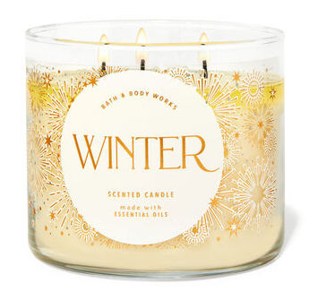 bath and body works winter candle