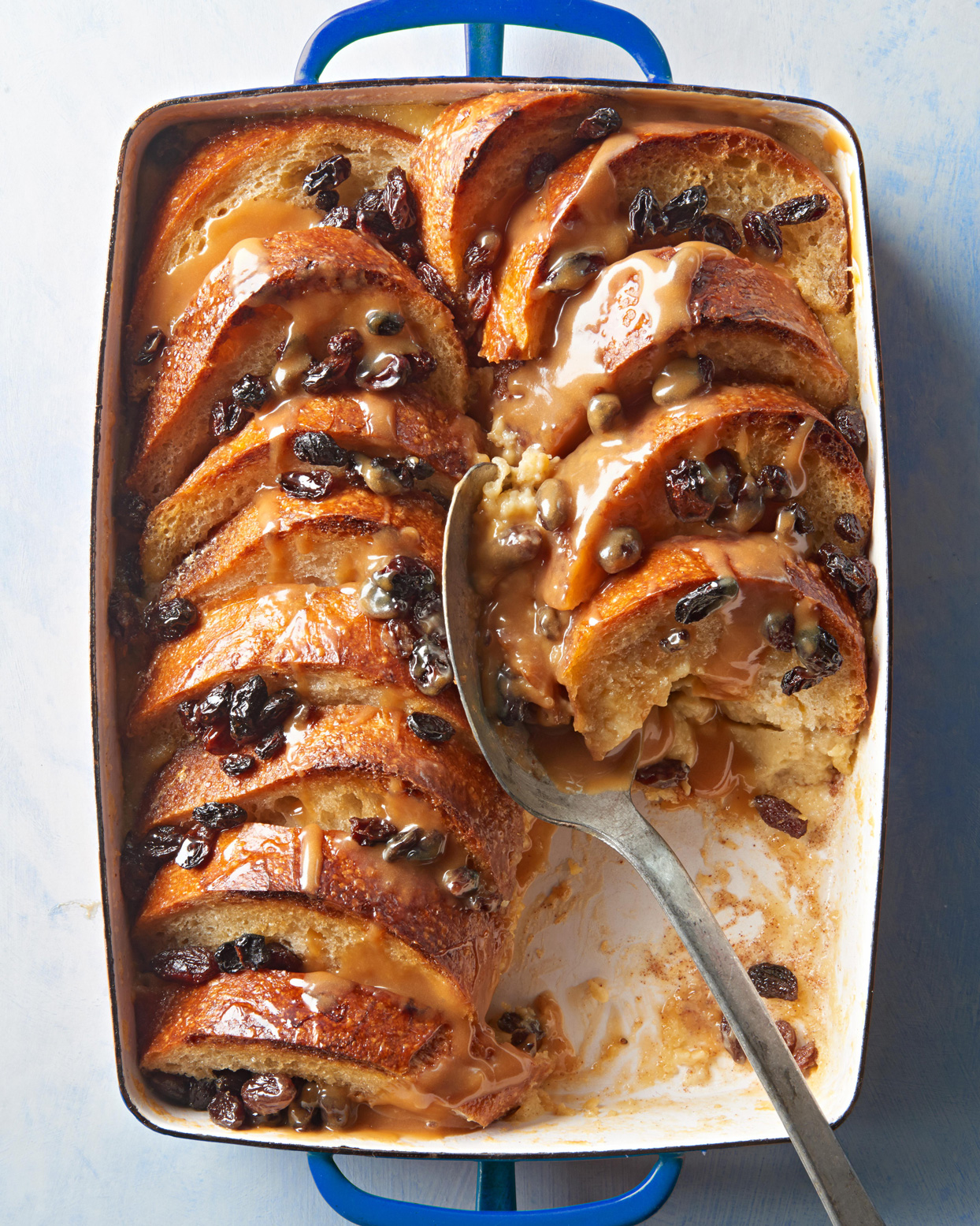 Bread and Butter Pudding with Salted Caramel Whiskey Butter Sauce