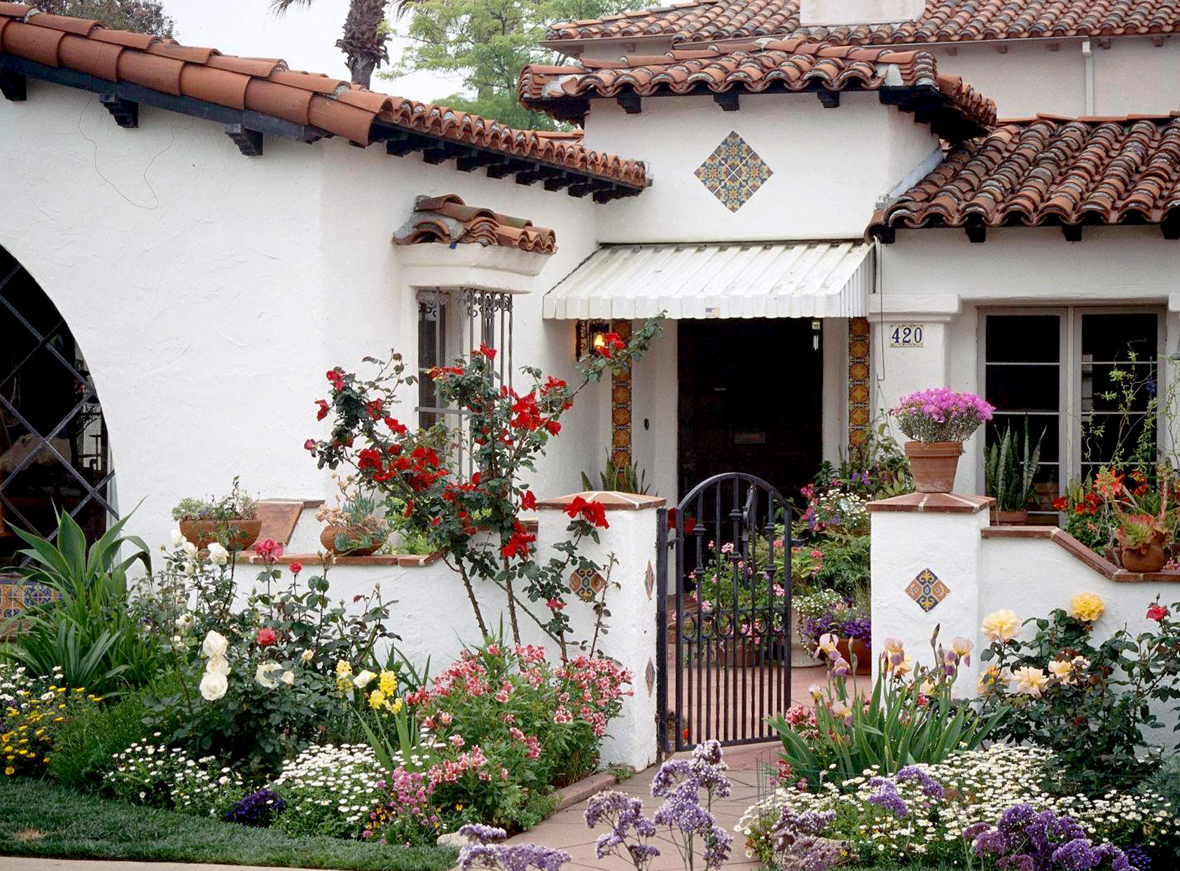 Mediterranean-inspired home with intricate tilework