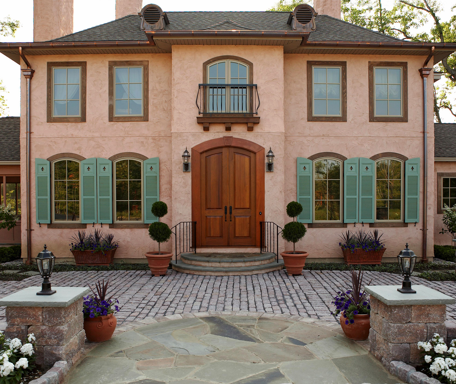 mediterranean color country french style home