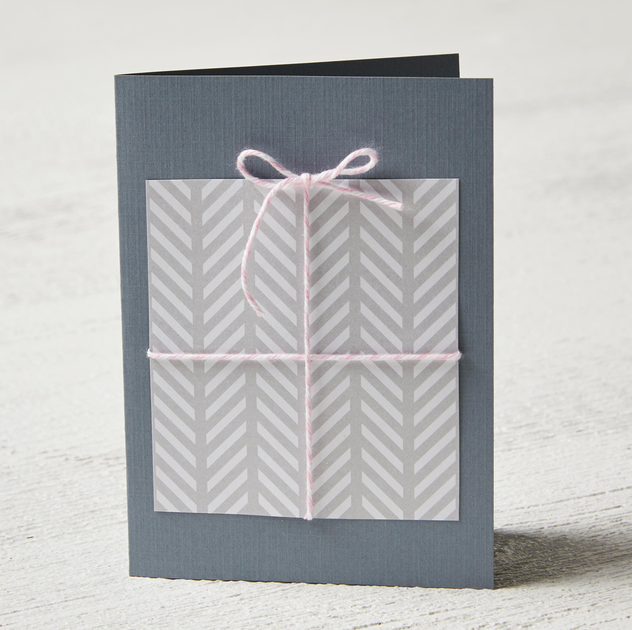 grey card with present accent