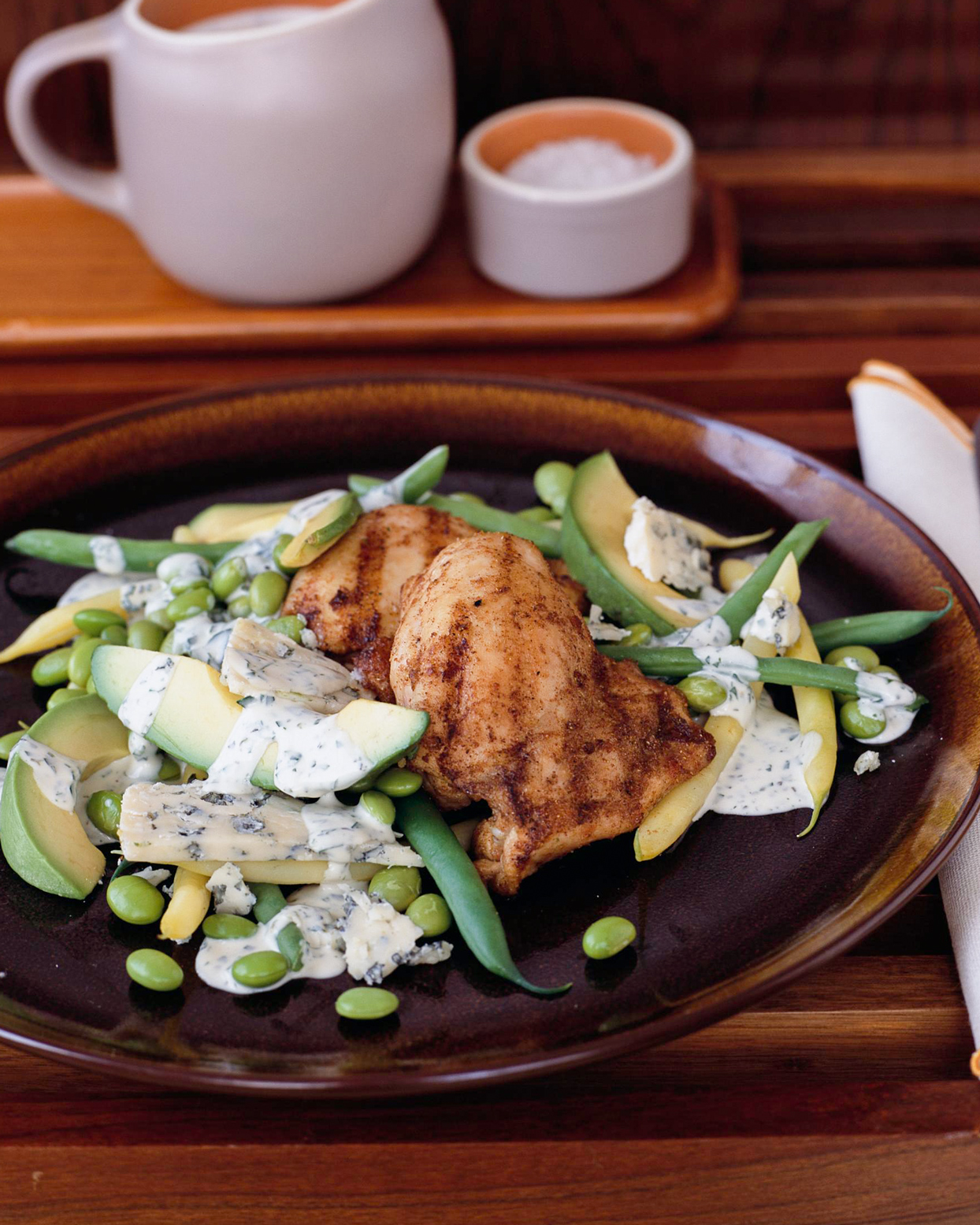 Spiced Chicken Thighs and Bean Salad