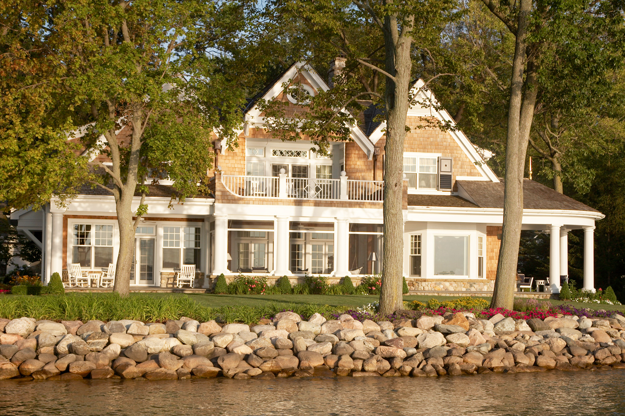 Home on waterfront