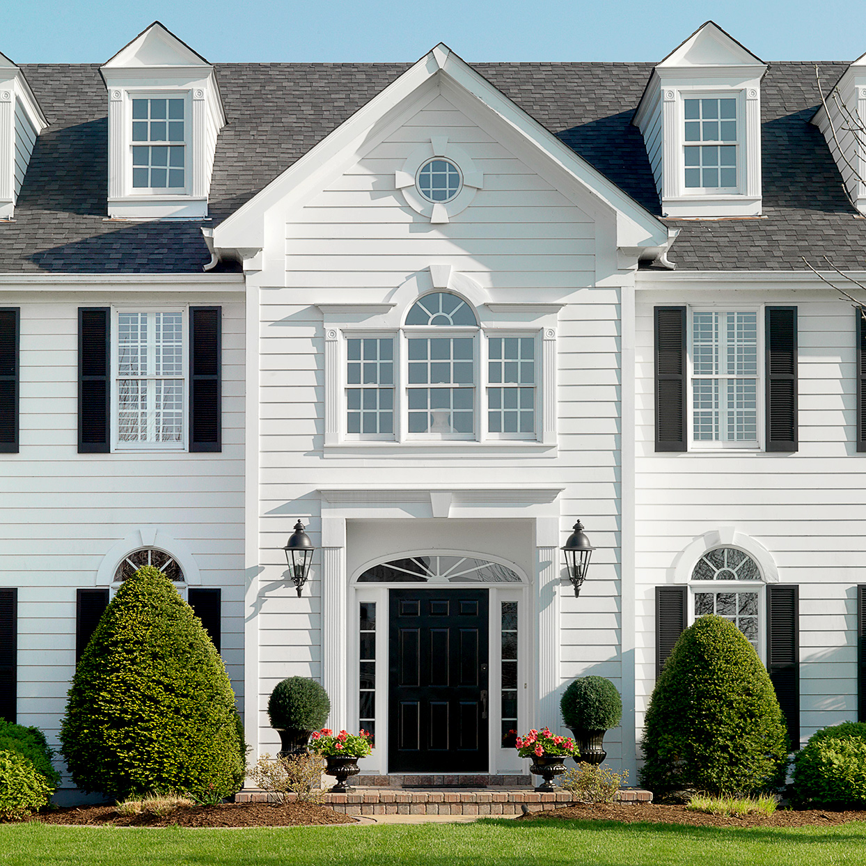 on-center entry colonial style home