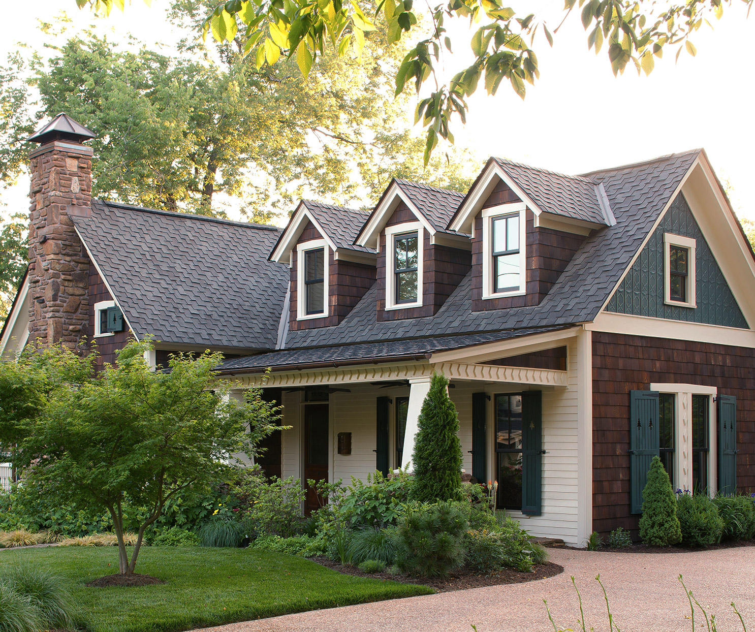 earthy colors cottage-style home