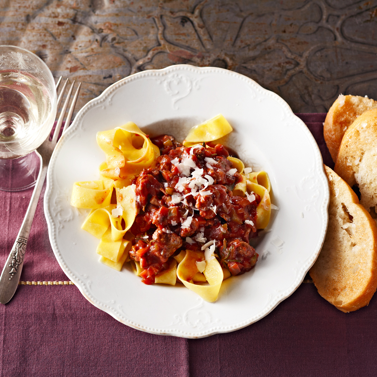 Meaty Ragu with Pasta