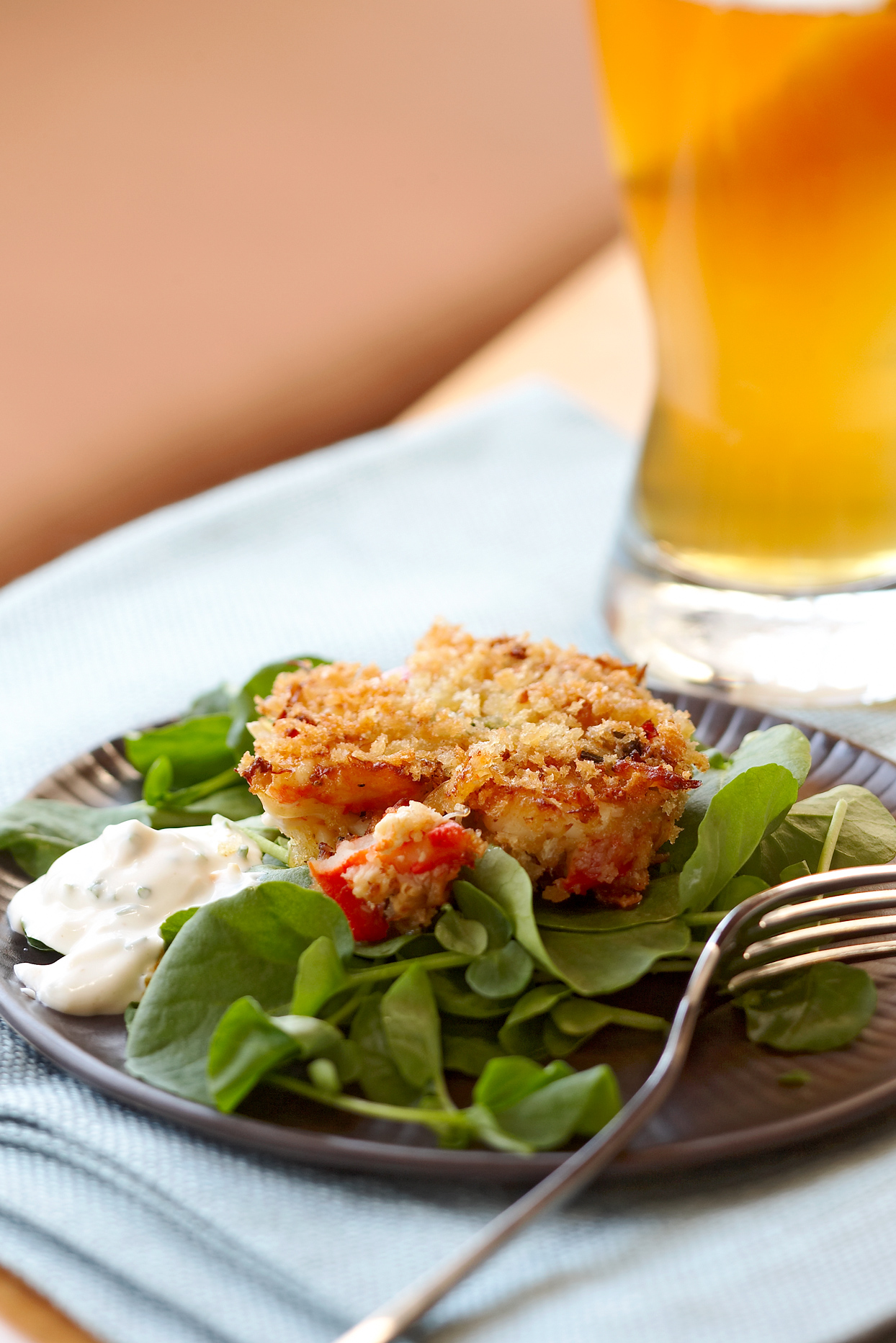 Mini Crab Cakes with Orange Aïoli