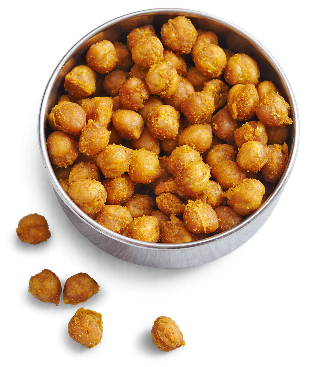 bowl of curried chickpeas