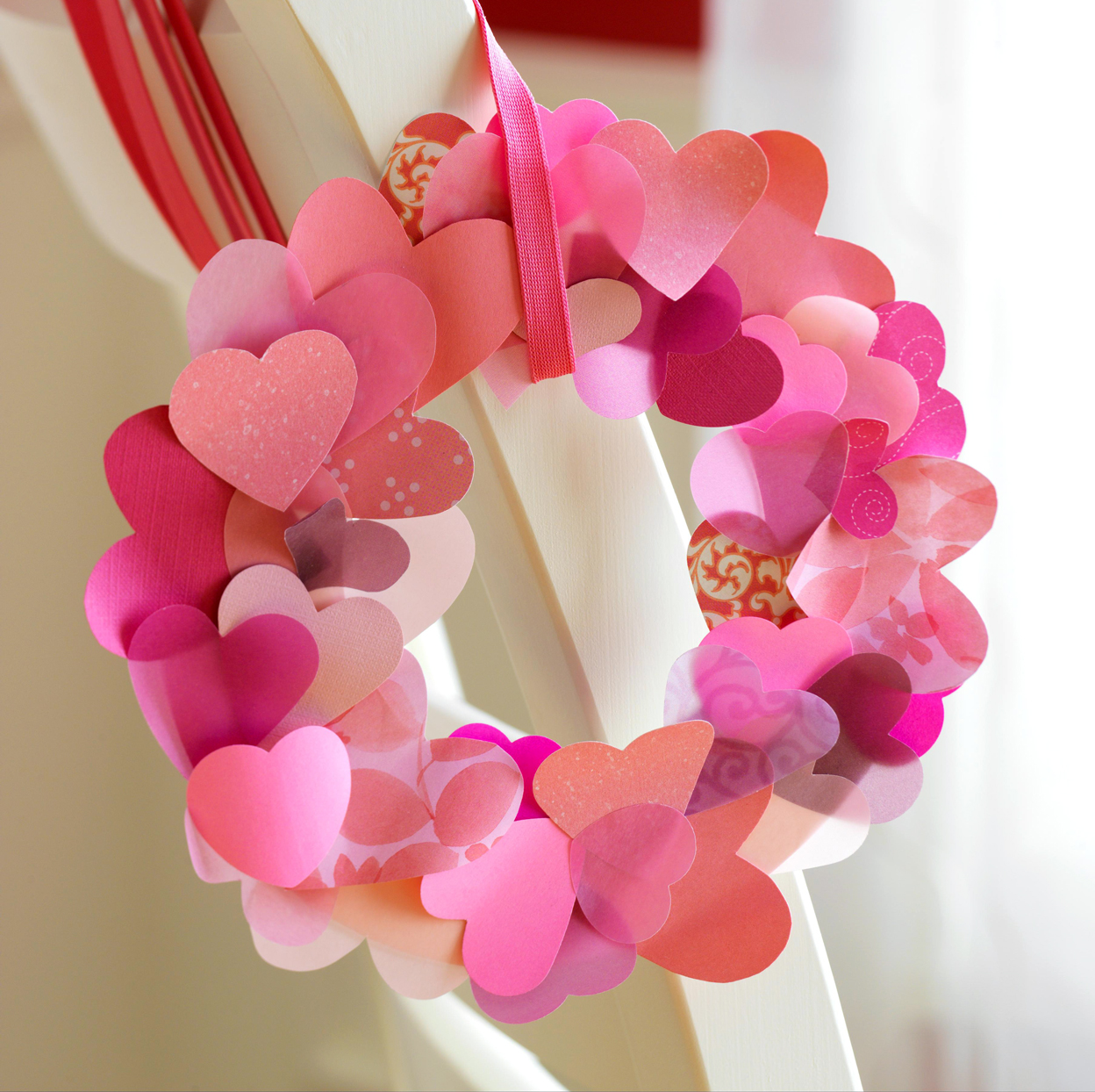 paper hearts wreath