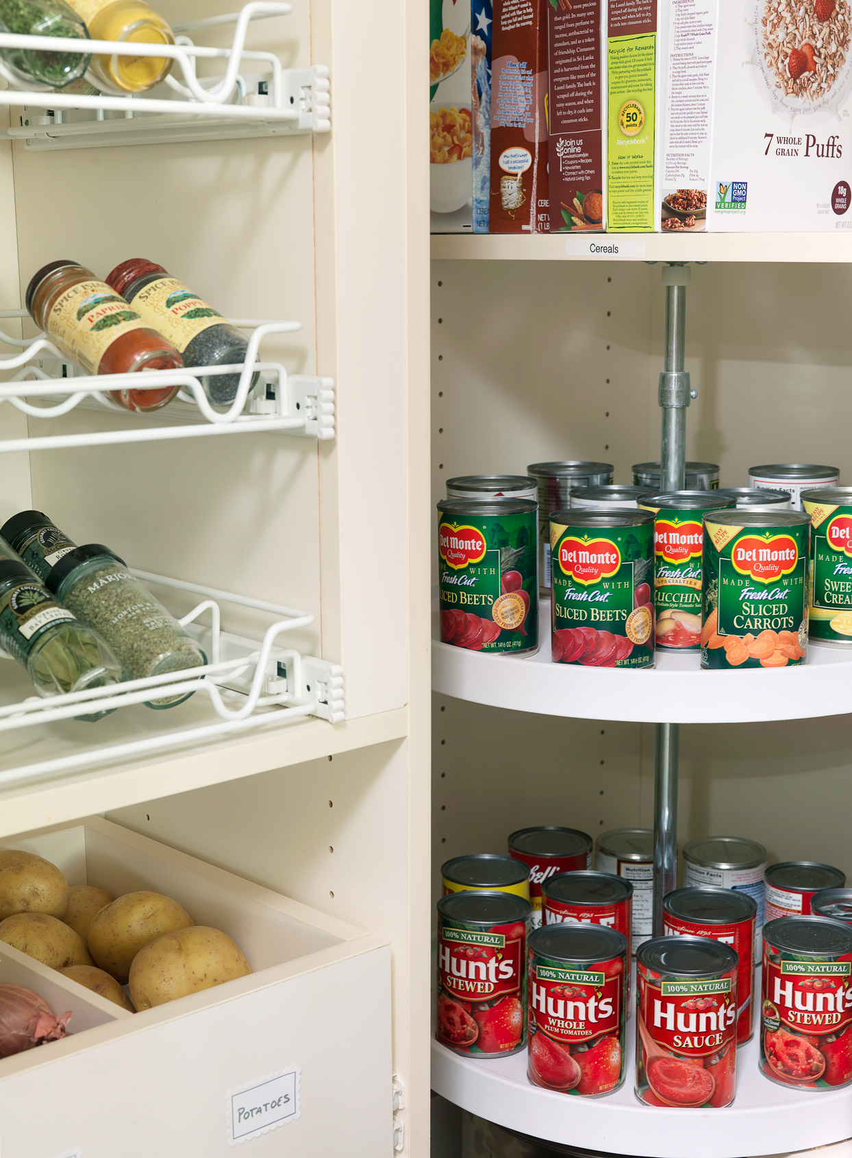 pantry with canned goods